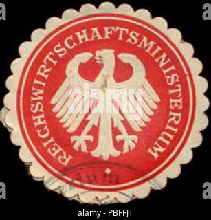 1502 Siegelmarke Reichswirtschaftsministerium W0296986 - Stock Photo