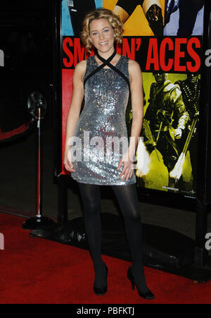 Elizabeth Banks arriving at the Smokin' Aces at the Chinese Theatre In Los Angeles. January 18, 2007.  eye contact smile metal dress silver full length BanksElizabeth013 Red Carpet Event, Vertical, USA, Film Industry, Celebrities,  Photography, Bestof, Arts Culture and Entertainment, Topix Celebrities fashion /  Vertical, Best of, Event in Hollywood Life - California,  Red Carpet and backstage, USA, Film Industry, Celebrities,  movie celebrities, TV celebrities, Music celebrities, Photography, Bestof, Arts Culture and Entertainment,  Topix, vertical, one person,, from the year , 2007, inquiry  - Stock Photo