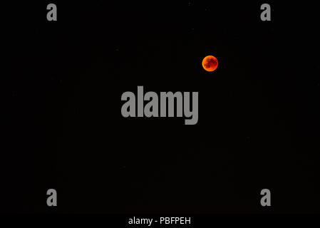 Total lunar eclipse 2018, 27. July in Germany - Stock Photo