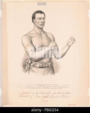 "836 John C. Heenan, the champion of America- (""the benicia boy"") LCCN2002707679 - Stock Photo"