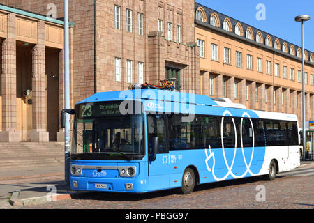 Linkker buses are first fast-charging electric buses in Finland - Stock Photo