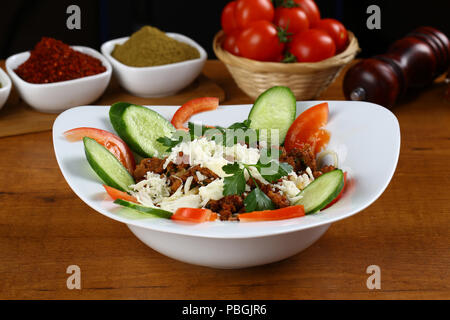 Spicy minced meat salad - Stock Photo