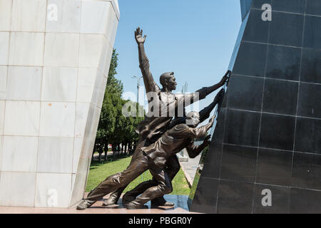 Monument in Bishkek, Kyrgyzstan in memory of those killed in Aksy in 2002 and in April 2010 when the Kyrgyz government was overthrown. - Stock Photo