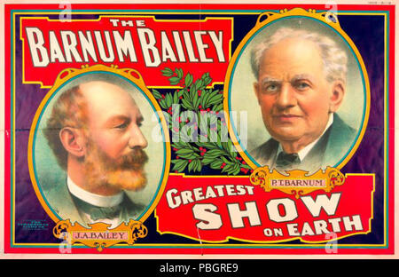 1613 The Barnum Bailey Greatest Show on Earth circus poster NYPL - Stock Photo