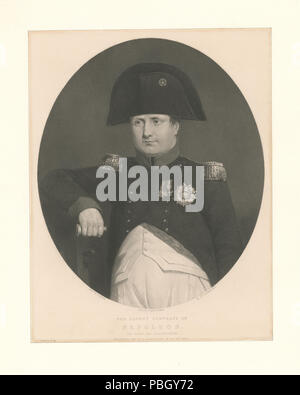 1650 The latest portrait of Napoleon (on board the Bellerophon) (NYPL b13075520-422197) - Stock Photo