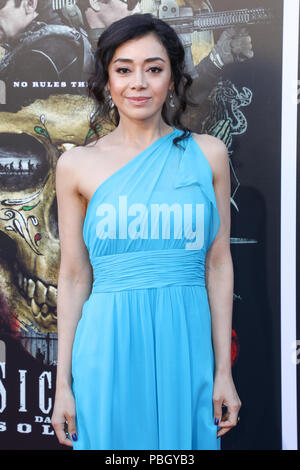 Premiere of 'Sicario: Day of the Soldado' held at the Westwood Regency Theater in Los Angeles, California  Featuring: Aimee Garcia Where: Los Angeles, California, United States When: 26 Jun 2018 Credit: Sheri Determan/WENN.com - Stock Photo