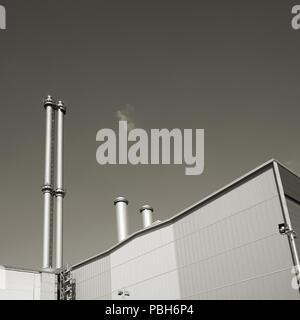 Cogeneration plant in Berlin - Stock Photo
