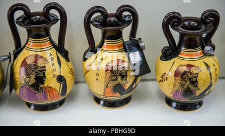 Kalambaka Greece Mar 20 2015 Greek Vase With Parthenon Greek