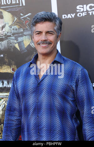 Premiere of 'Sicario: Day of the Soldado' held at the Westwood Regency Theater  Featuring: Esai Morales Where: Los Angeles, California, United States When: 26 Jun 2018 Credit: Sheri Determan/WENN.com - Stock Photo