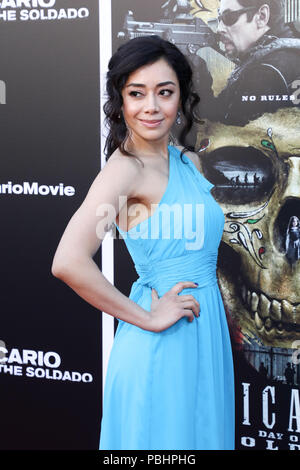 Premiere of 'Sicario: Day of the Soldado' held at the Westwood Regency Theater  Featuring: Aimee Garcia Where: Los Angeles, California, United States When: 26 Jun 2018 Credit: Sheri Determan/WENN.com - Stock Photo