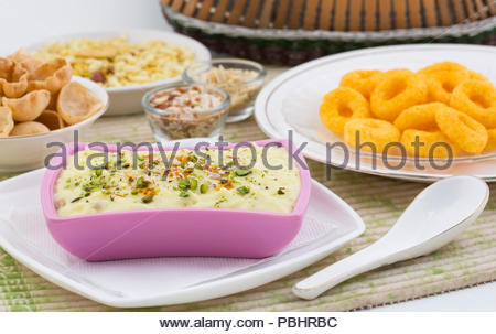Indian Traditional Sweet Food Shrikhand - Stock Photo