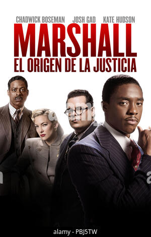 RELEASE DATE: October 13, 2017 TITLE: Marshall STUDIO: Open Road Films DIRECTOR: Reginald Hudlin PLOT: About a young Thurgood Marshall, the first African-American Supreme Court Justice, as he battles through one of his career-defining cases. STARRING: CHADWICK BOSEMAN as Thurgood Marshall. (Credit Image: © Open Road Films/Entertainment Pictures) - Stock Photo