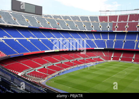 view of Nou Camp Stadium in Barcelona, FC Barcelona - Stock Photo