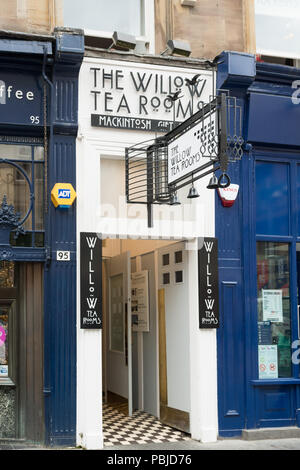 The Willow Tea Rooms est 1983, 97 Buchanan Street, Glasgow, Scotland, UK - Stock Photo
