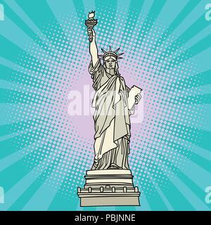 Statue of liberty. New York America - Stock Photo