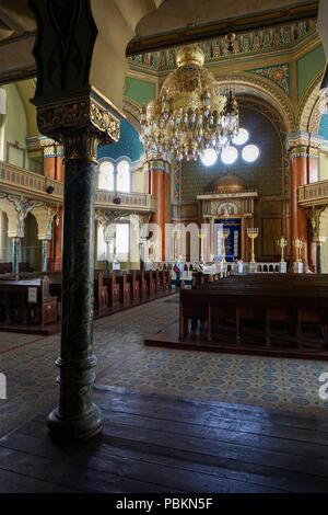 Synagogue interior in Sofia, Bulgaria - Stock Photo