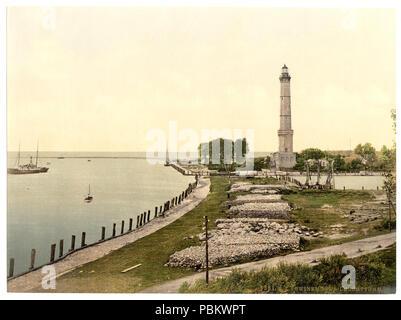 921 Lighthouse, Swinemunde, Pomerania, Germany (i.e., Świnoujście, Poland)-LCCN2002714000 - Stock Photo
