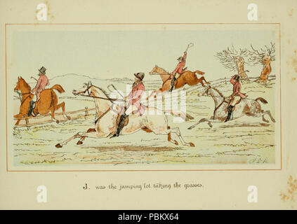 ABC of fox hunting (Plate 10) - Stock Photo