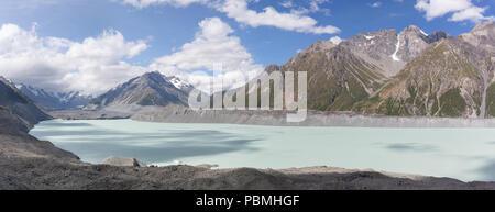 Tasman Lake and Glacier - Stock Photo