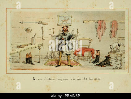 ABC of fox hunting (Plate 1) - Stock Photo