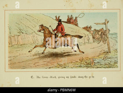 ABC of fox hunting (Plate 3) - Stock Photo