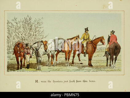 ABC of fox hunting (Plate 8) - Stock Photo