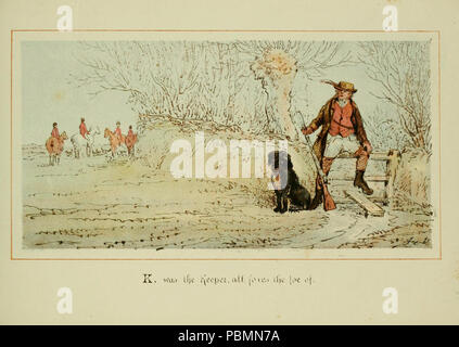 ABC of fox hunting (Plate 11) - Stock Photo
