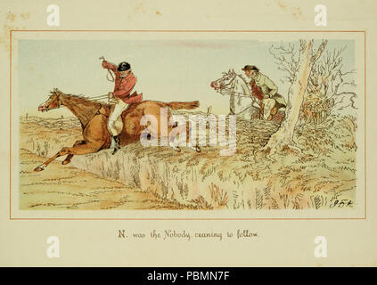 ABC of fox hunting (Plate 14) - Stock Photo