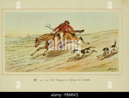 ABC of fox hunting (Plate 15) - Stock Photo