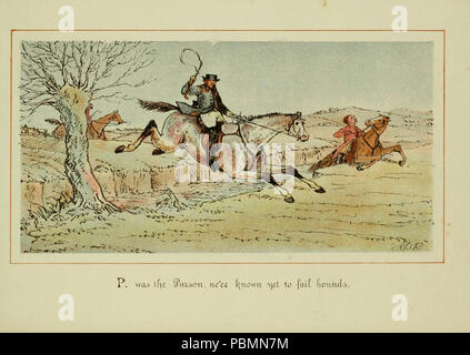 ABC of fox hunting (Plate 16) - Stock Photo
