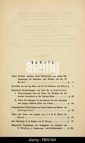 Abhandlungen der Naturhistorischen Gesellschaft zu Nürnberg Stock Photo