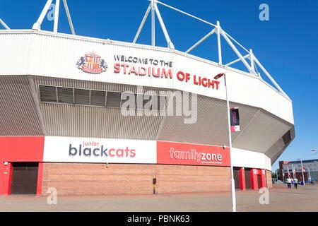 The Stadium of Light, Vaux Brewery Way, Sheepfolds, Sunderland, Tyne and Wear, England, United Kingdom - Stock Photo