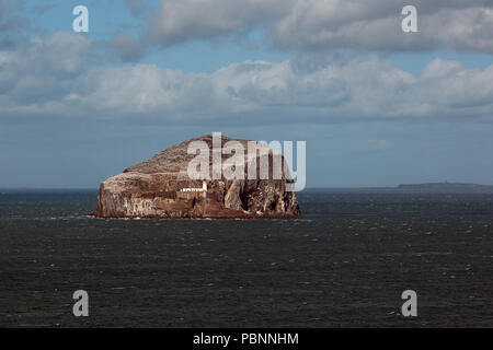 The Bass Rock And Lighthouse - Stock Photo