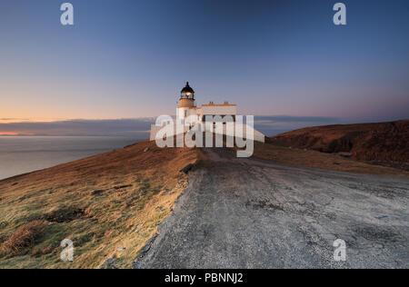 Stoer Lighthouse At Sunset - Stock Photo