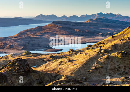View  from Old Man of Storr, Isle of Skye, Scotland - Stock Photo