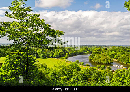 View from Richmond Hill; Blick vom Richmond Hill, Greater  London - Stock Photo