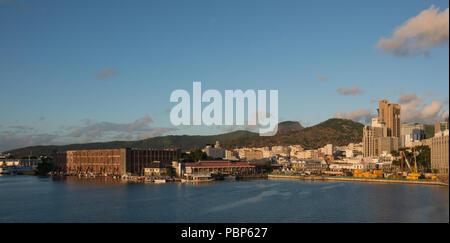 Port louis Mauritius waterfront - Stock Photo