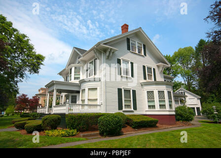 Stately house in Lexington, Middlesex County, Massachusetts, USA - Stock Photo