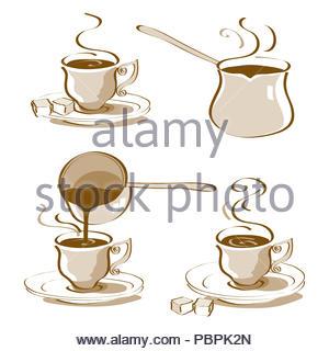 Turkish Coffee Vector - Stock Photo