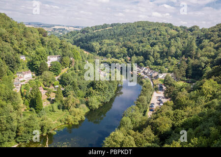 Symonds Yat in the Wye valley looking over the River Wye Herefordshire, England, UK - Stock Photo