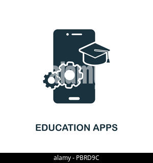 Education Apps creative icon. Simple element illustration. Education Apps concept symbol design from online education collection. Can be used for web, - Stock Photo