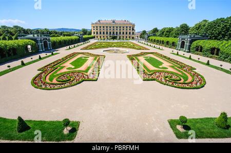 Vienna, Austria - June 16, 2012: Meidling Privy Gardens: Crown Prince Garden and the Garden on the Cellar of Schonbrunn Palace in Vienna, Austria - Stock Photo