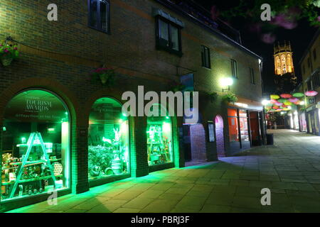 York Jorvik Viking Centre at night - Stock Photo
