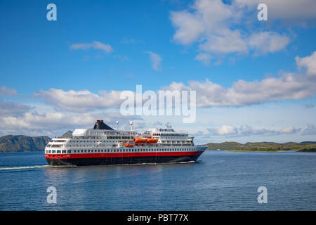 Cruise Ship, Cruise Liners On fjord, Norway - Stock Photo
