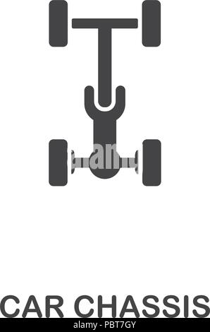 Car Chassis creative icon. Simple element illustration. Car Chassis concept symbol design from car parts collection. Can be used for web, mobile, web  - Stock Photo