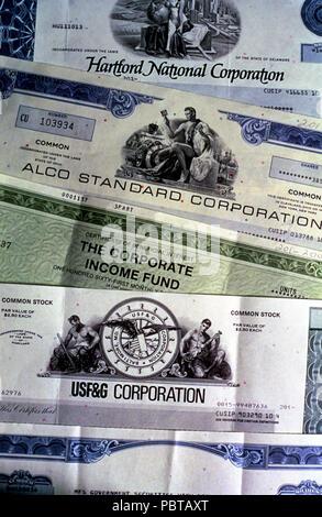 Stock certificates USA    © Myrleen Pearson       ....Ferguson Cate - Stock Photo