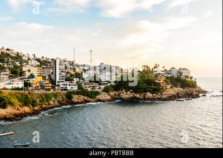 View of Acapulco in evening, Mexico - Stock Photo