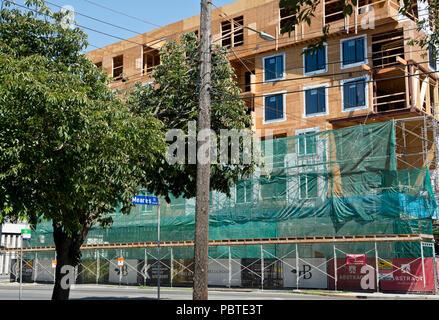 Condo development in Victoria, BC, Canada.  Apartments flats under construction. - Stock Photo
