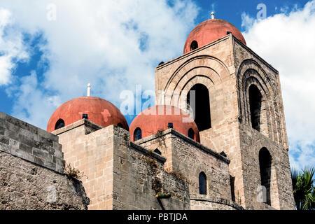 San Giovanni degli Eremiti, Palermo, Sicily, Italy - Stock Photo