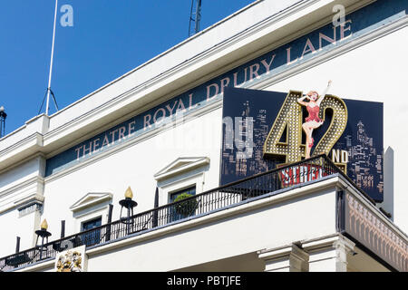The musical 42nd Street at the Theatre Royal Drury Lane in the West End of London. - Stock Photo